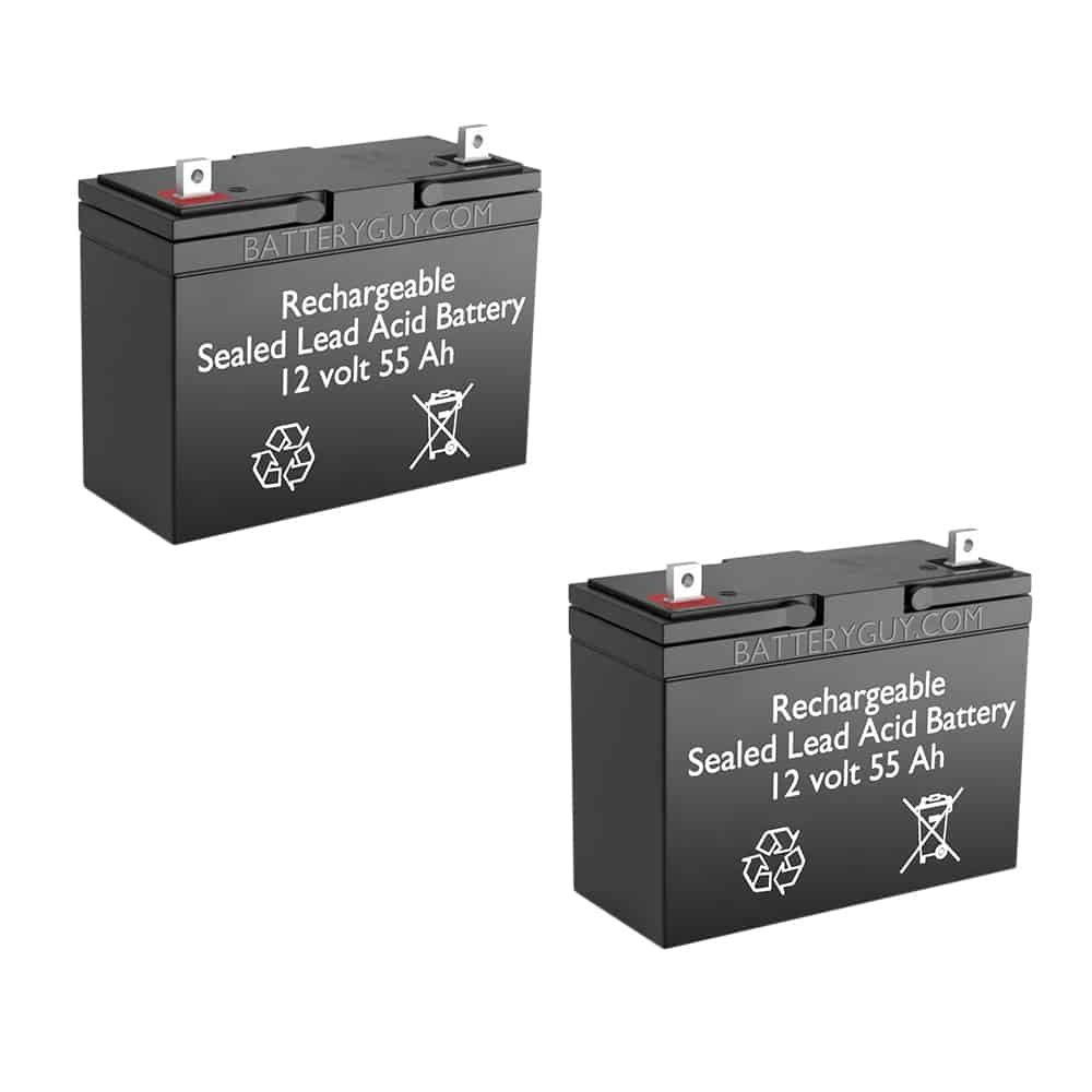 12v 55Ah Rechargeable Sealed Lead Acid (Rechargeable SLA) Battery | BG-12550NB (Qty of 2)