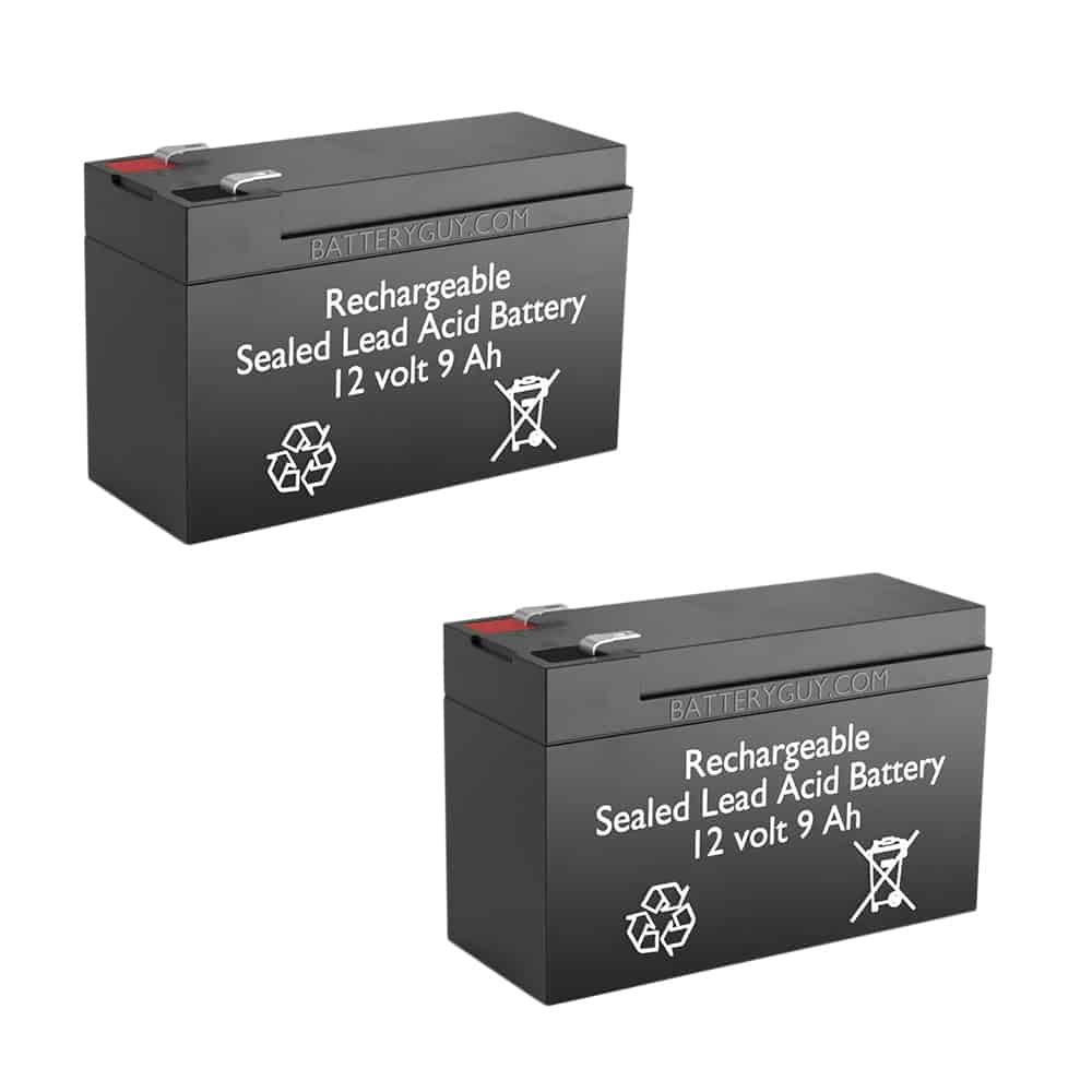 Two 12v 9Ah Rechargeable Sealed Lead Acid Batteries (F2 Terminals) |  BG-1290F2