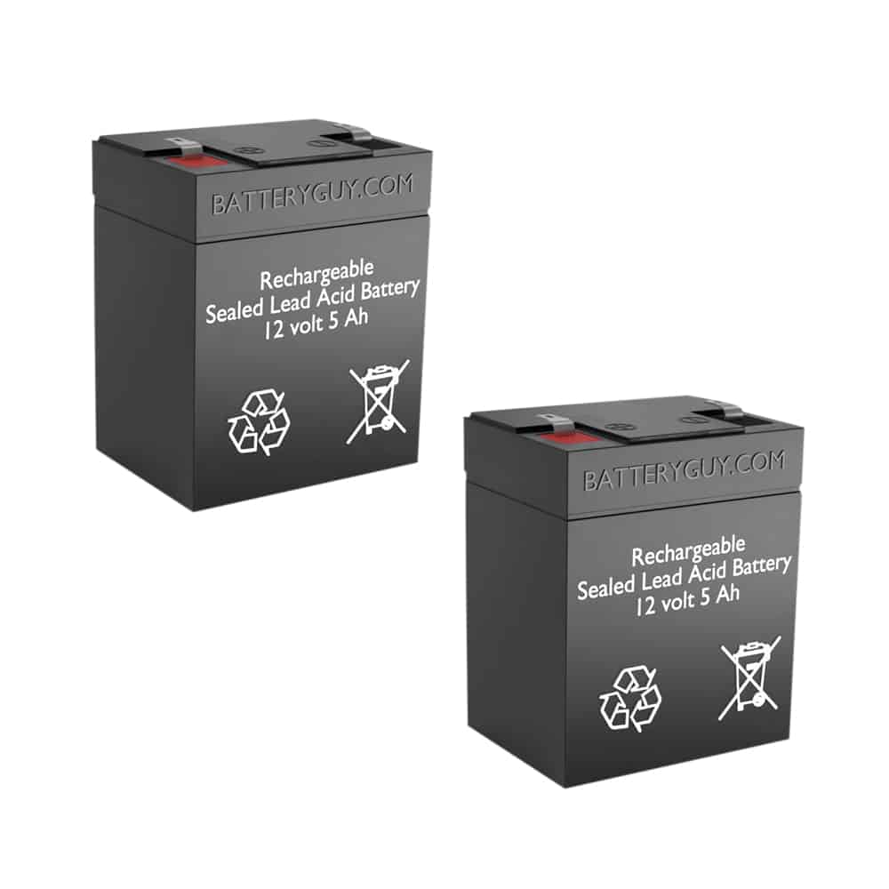 12v 5Ah Rechargeable Sealed Lead Acid (Rechargeable SLA) Battery | BG-1250F1 (Qty of 2)