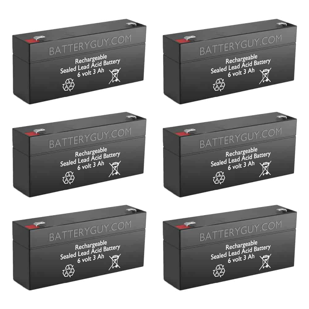 6v 3.5Ah Rechargeable Sealed Lead Acid (Rechargeable SLA) Battery   BG-630 (Qty of 6)