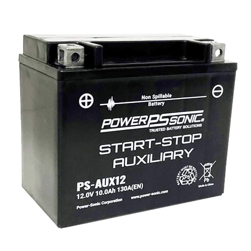 Power-Sonic PS-AUX12 12V 130 CCA Start-Stop Auxiliary AGM Battery