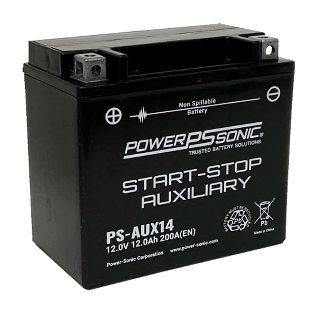 Power-Sonic PS-AUX14 12V 200 CCA Start-Stop Auxiliary AGM Battery