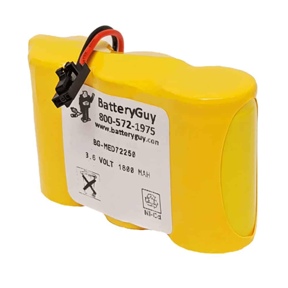 Nickel Cadmium Medical Battery, 3.6v 1800mAh   BG-MED72250 (Rechargeable)