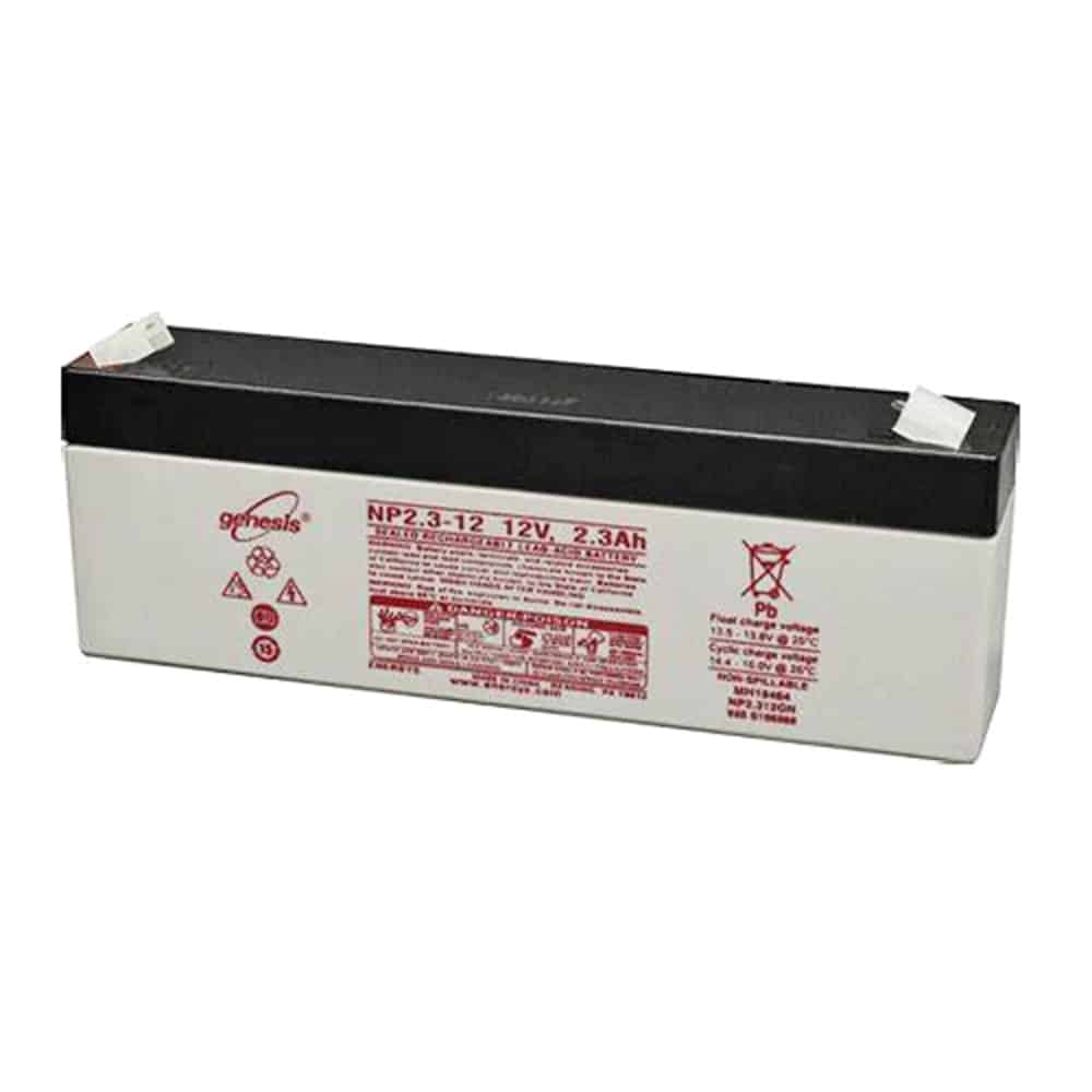 Genesis 12v 2.3Ah Rechargeable Sealed Lead Acid (Rechargeable SLA) Battery -  NP2.3-12 (Formerly Yuasa)