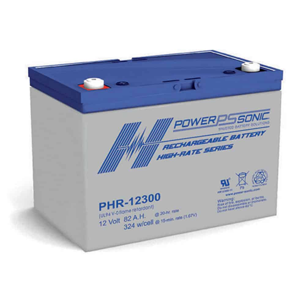 Power Sonic PHR-12300 Rechargeable SLA Battery 12V 279 Watts/Cell T6 Terminal