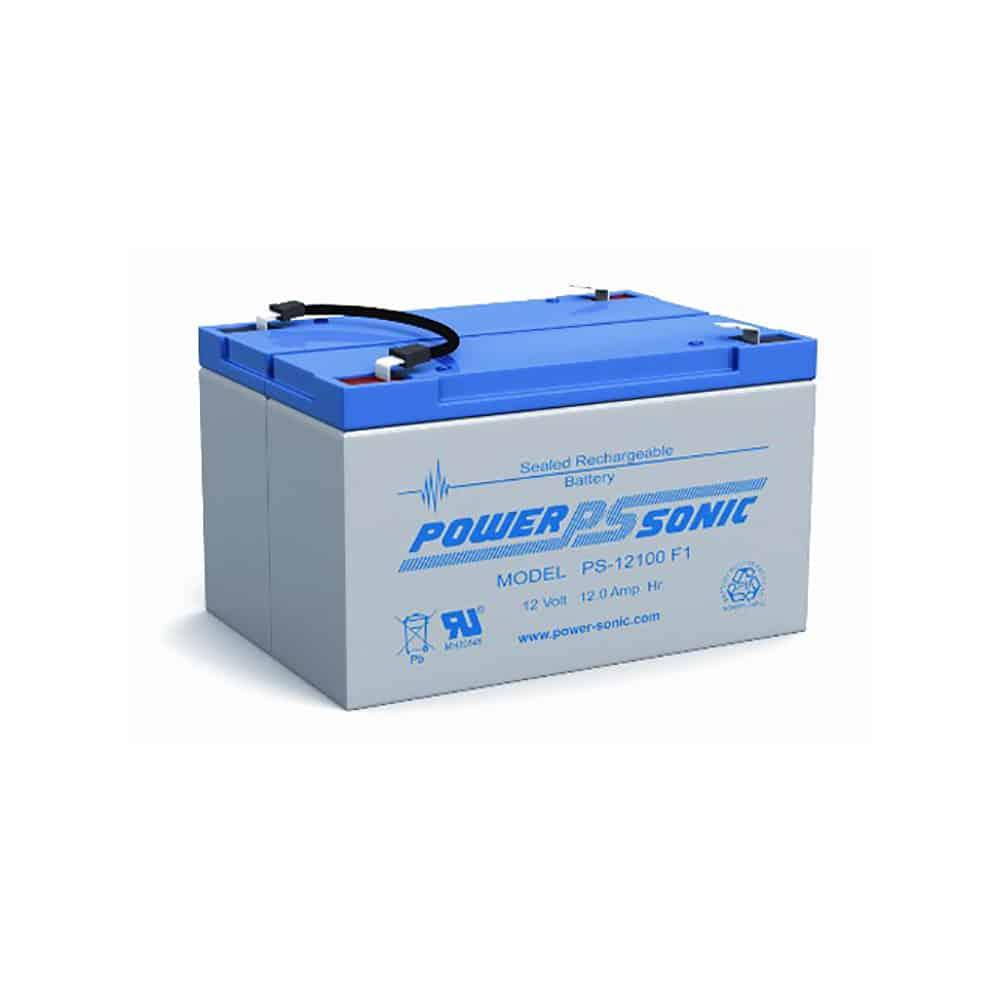 Power-Sonic PS-12100 F2 | Rechargeable SLA Battery 12v 12ah