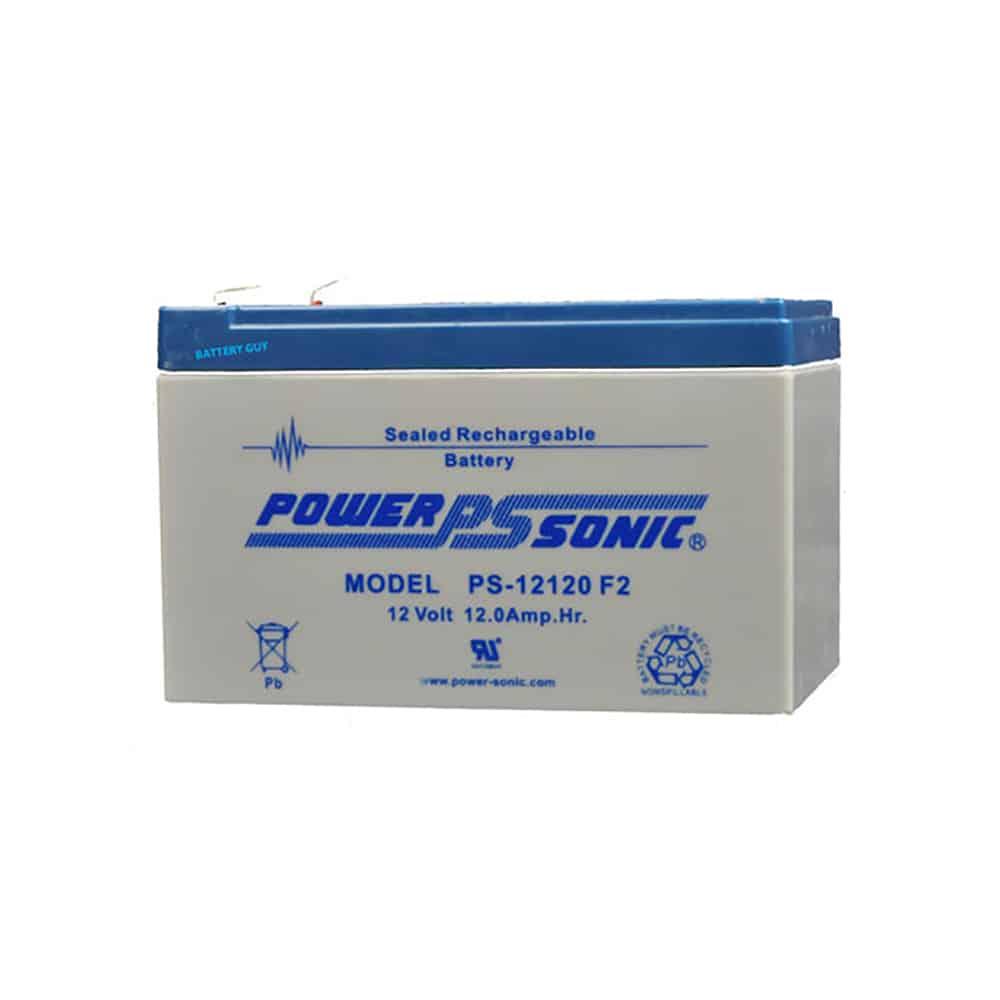 Power-Sonic PS-12120 F2   Rechargeable SLA Battery 12v 12ah