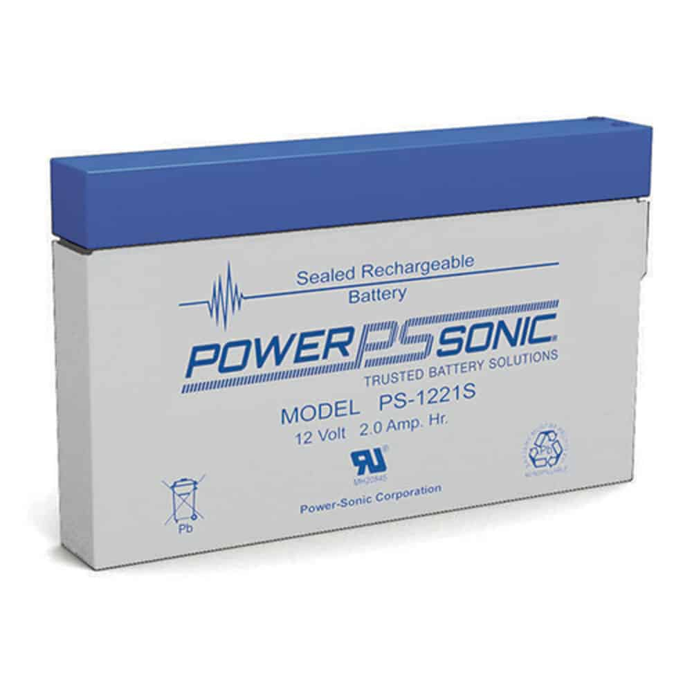 Power-Sonic PS-1221S | Rechargeable SLA Battery 12v 2Ah