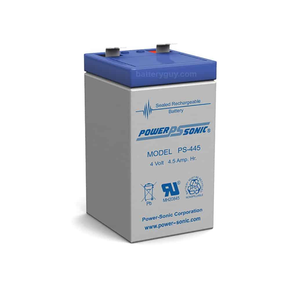 Power-Sonic PS-445 | Rechargeable SLA Battery 4v 4.5ah