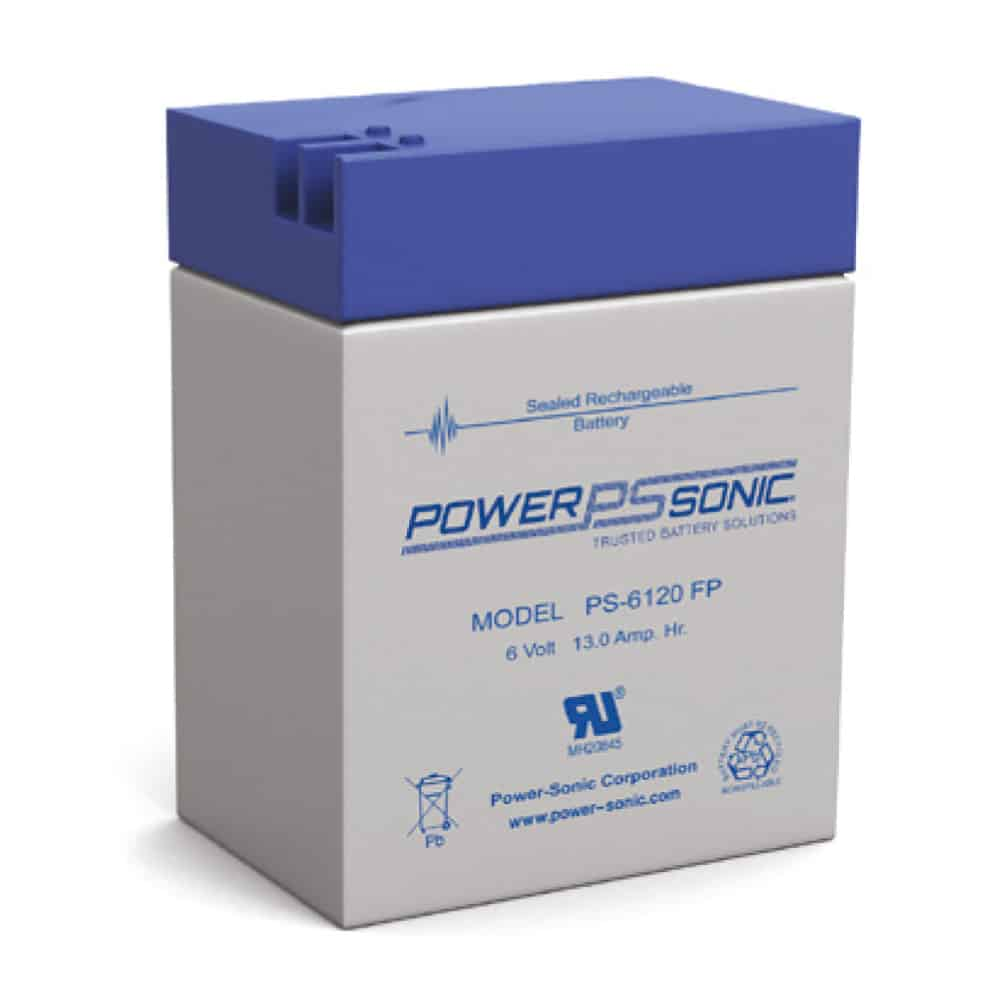Power-Sonic PS-6120 FP   Rechargeable SLA Battery 6v 12Ah