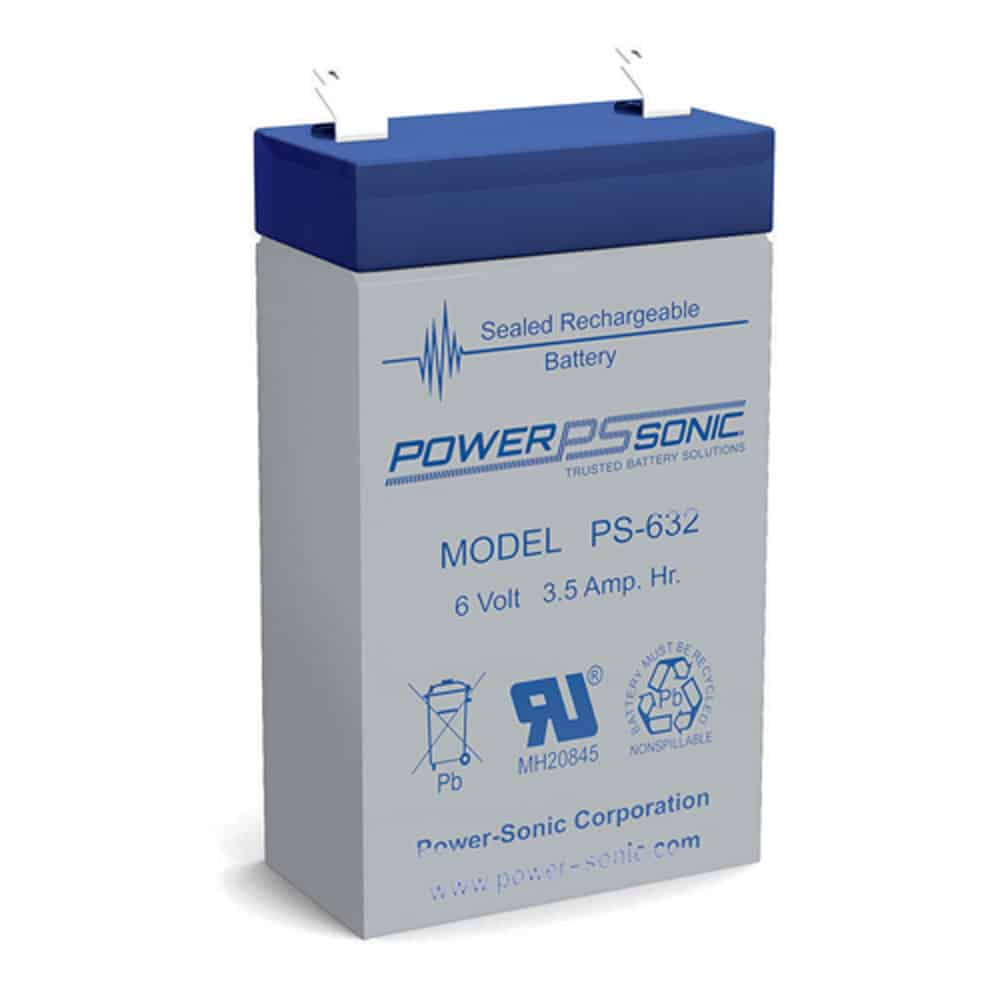 Power-Sonic PS-632 | Rechargeable SLA Battery 6v 3.5ah