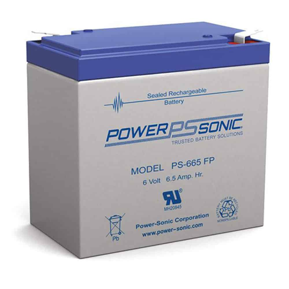 Power-Sonic PS-665 | Rechargeable SLA Battery 6v 6.5ah