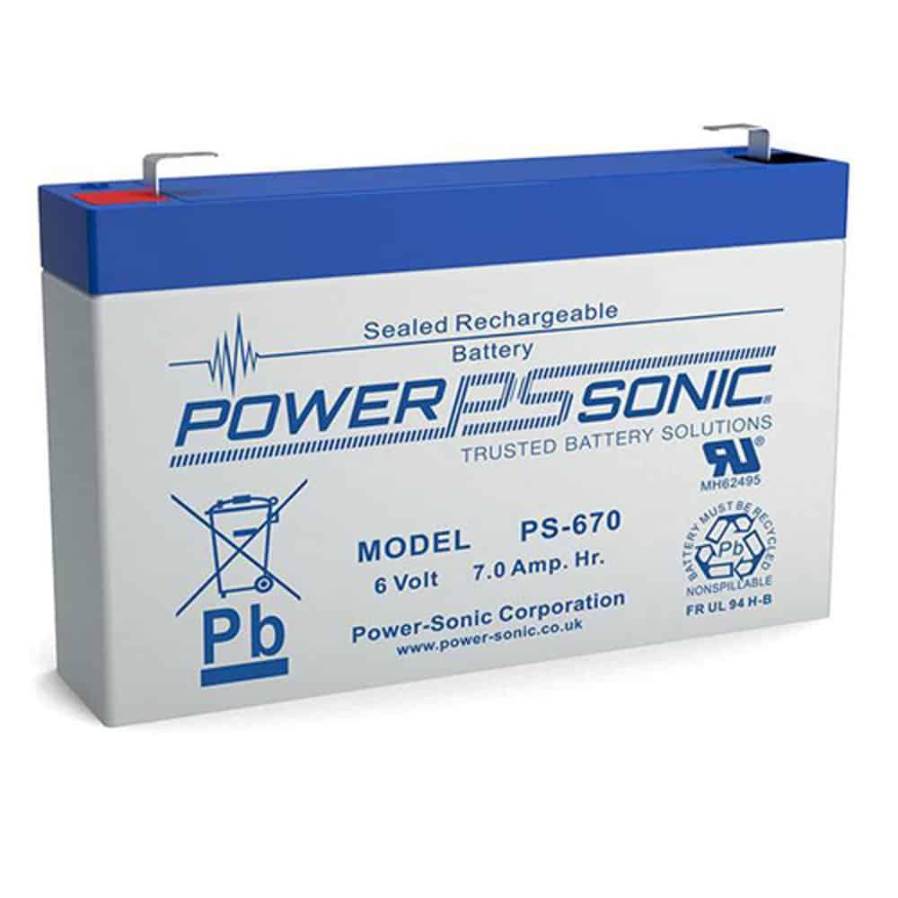 Power-Sonic PS-670 | Rechargeable SLA Battery 6v 7Ah