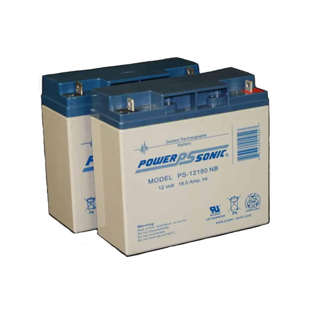 Power-Sonic PS-12180 NB| Rechargeable SLA Battery 12v 18ah Set of 2