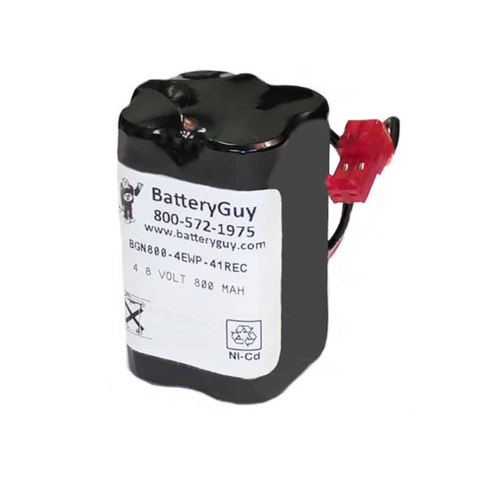 Nickel Cadmium Battery 4.8v 900mah | BGN800-4EWP-41REC (Rechargeable)