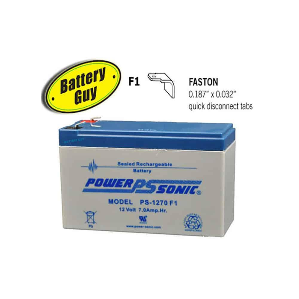 Power-Sonic PS-1270 F1   Rechargeable SLA Battery 12v 7Ah