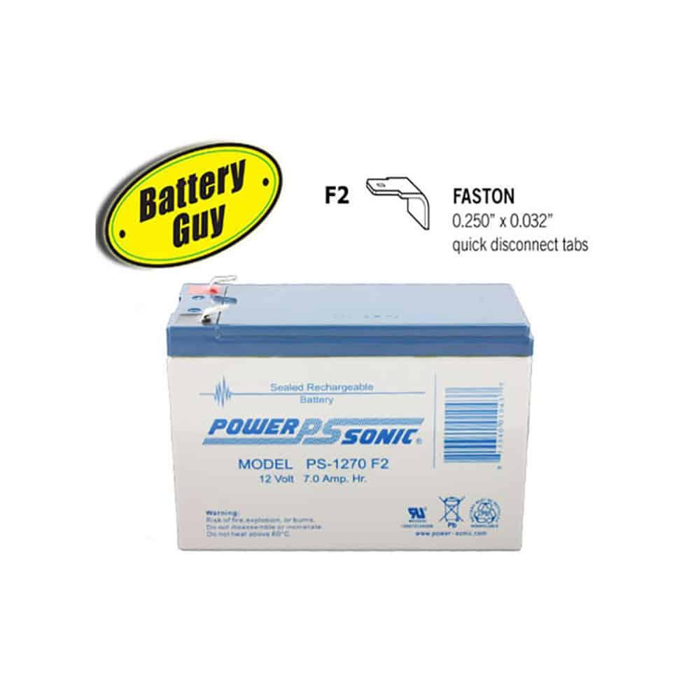Power-Sonic PS-1270 F2   Rechargeable SLA Battery 12v 7Ah