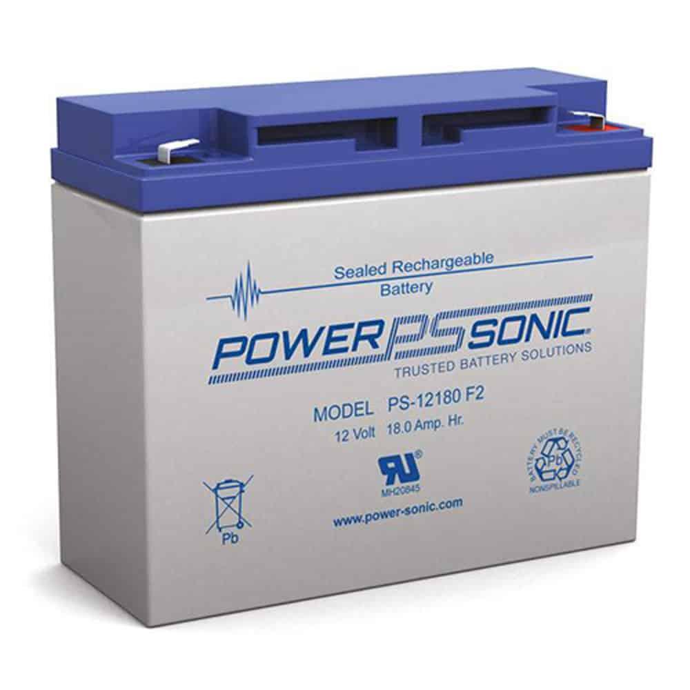 Power-Sonic PS-12180 F2   Rechargeable SLA Battery 12v 18Ah