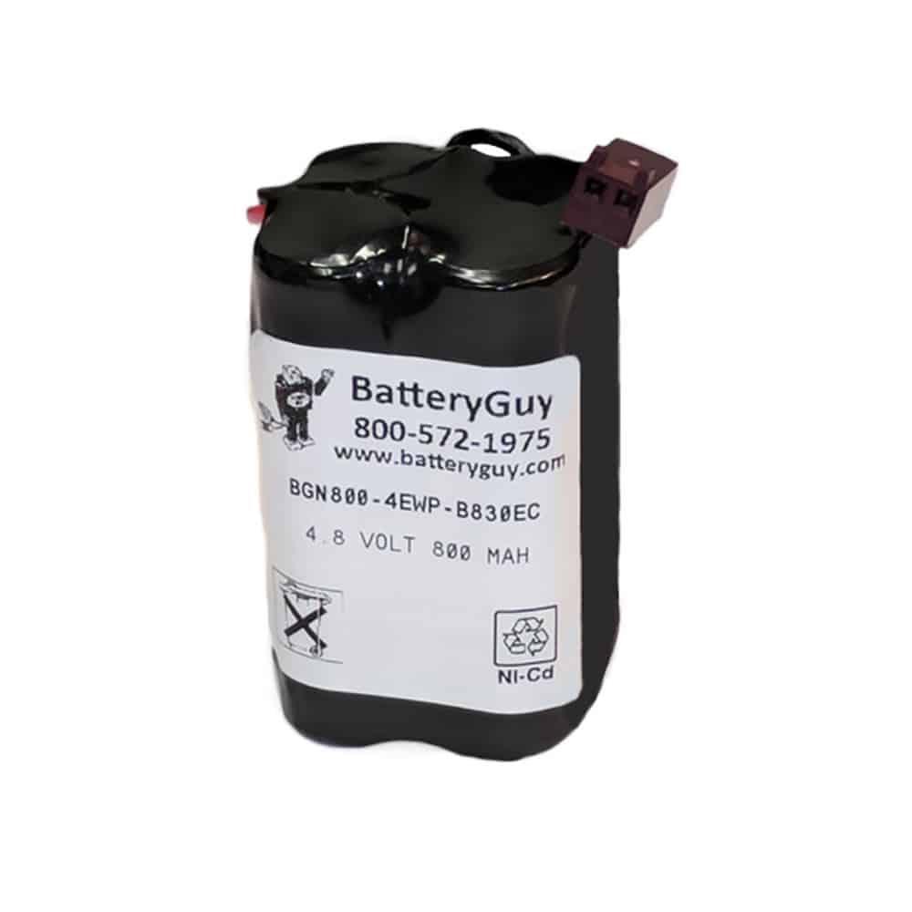 Nickel Cadmium Battery 4.8v 900mah | BGN800-4EWP-B830EC (Rechargeable)