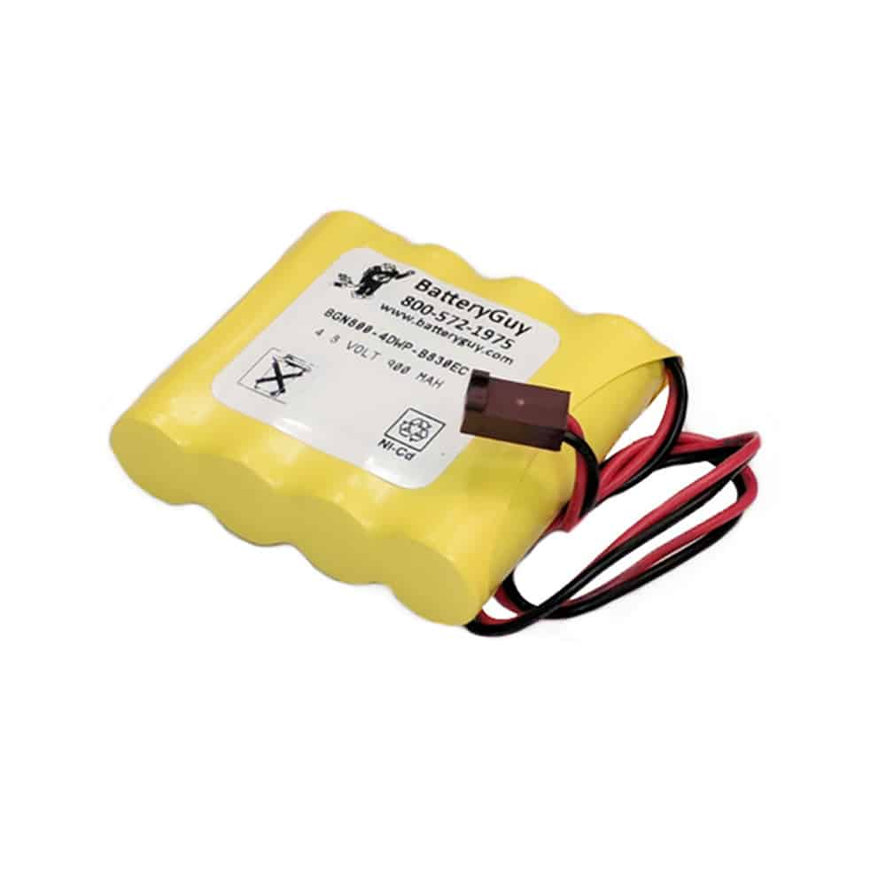 Nickel Cadmium Battery 4.8v 900mah with Connector   BGN800-4DWP-B830EC (Rechargeable)