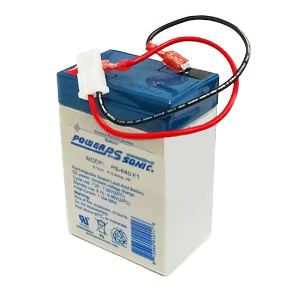 Power-Sonic PS-640WL | Rechargeable SLA Battery 6v 4.5Ah W/ Faston Wire Lead