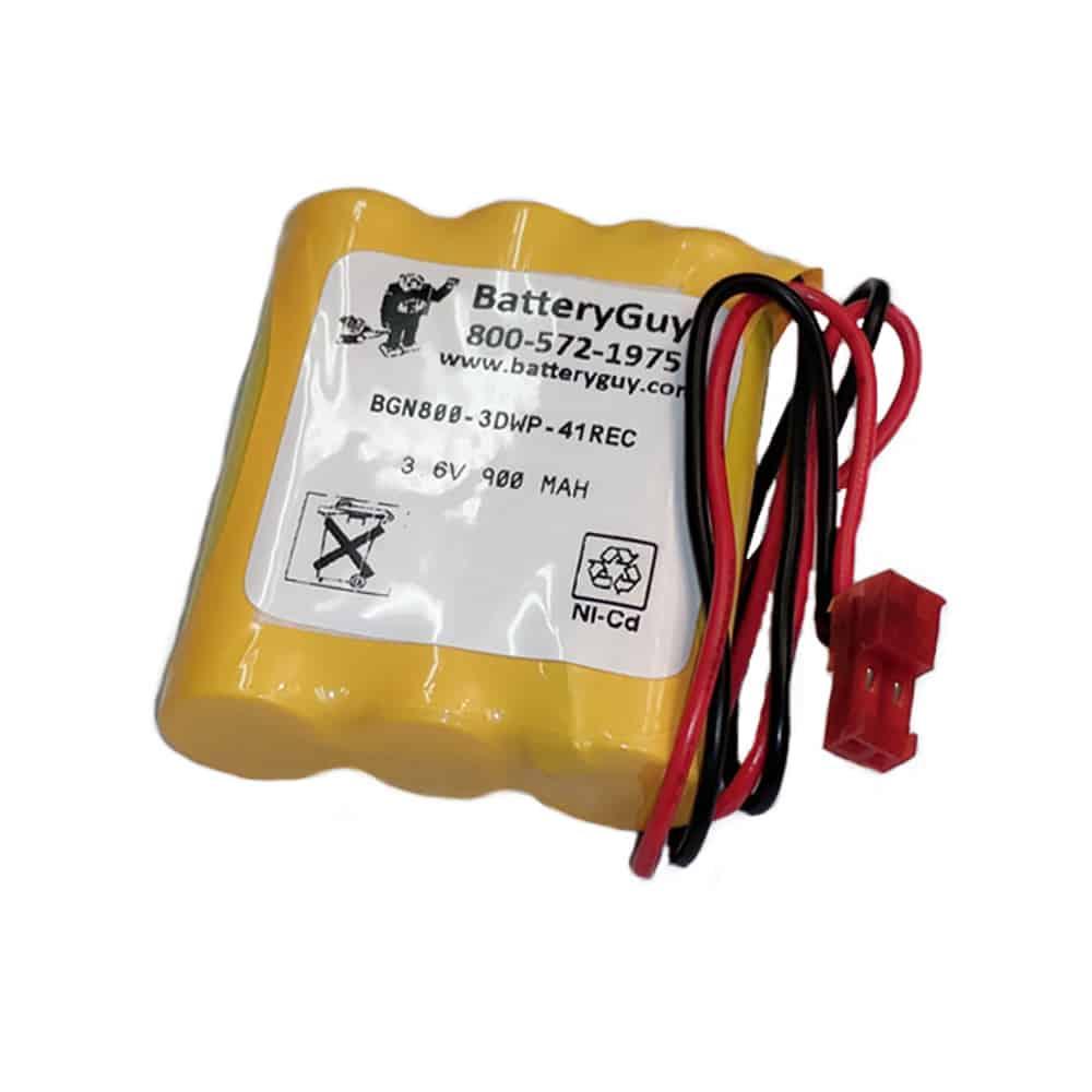 Nickel Cadmium Battery 3.6v 900mah | BGN800-3DWP-41REC (Rechargeable)