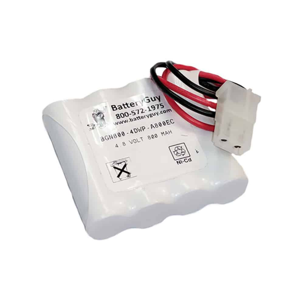 Nickel Cadmium Battery 4.8v 900mah with Connector | BGN800-4DWP-A800EC (Rechargeable)