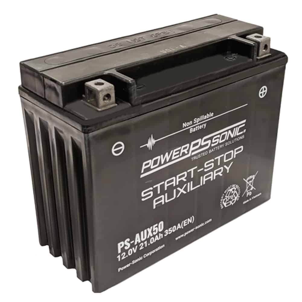 Power-Sonic PS-AUX50 12V 300 CCA Start-Stop Auxiliary AGM Battery